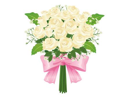 White rose wedding bouquet / bouquet 01