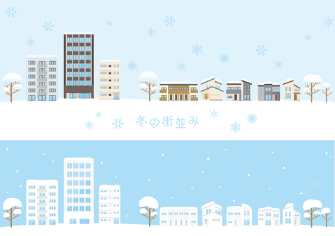 Winter cityscape 01
