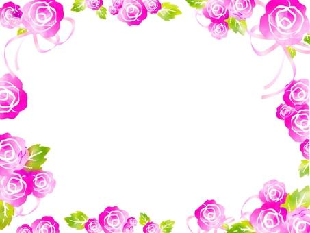 Rose Frame Pink Rose