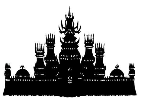Devil Castle Silhouette