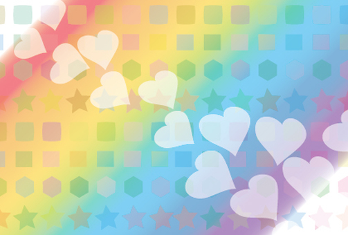 Rainbow and heart rainbow color background