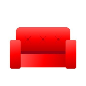 Red sofa 1