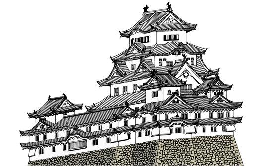 Himeji Castle (color)