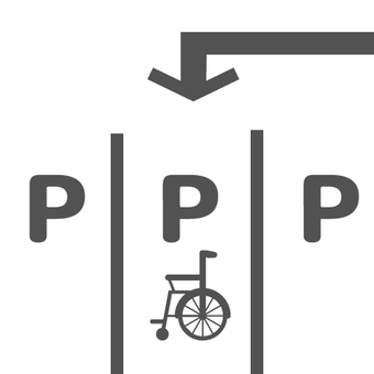 Image of parking space / wheelchair dedicated space