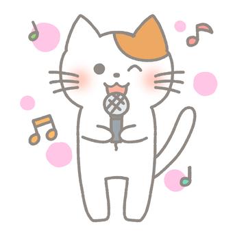 Cat singing a song at karaoke 2