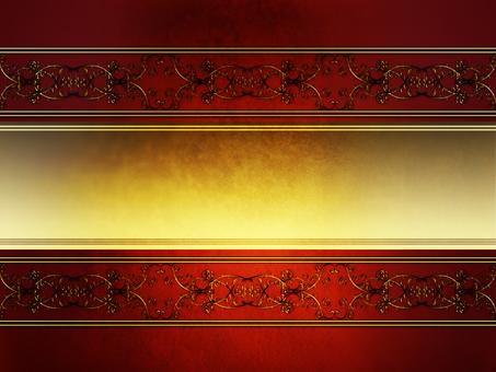 빈티지 gold 장식 red