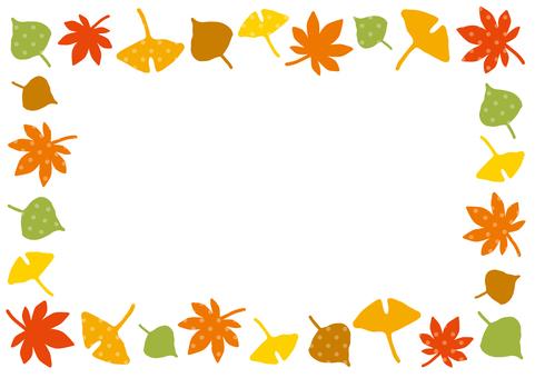 낙엽 프레임 4