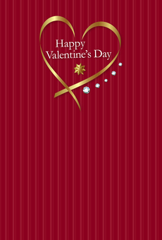 Valentine's day material 7 red longitudinal postcard