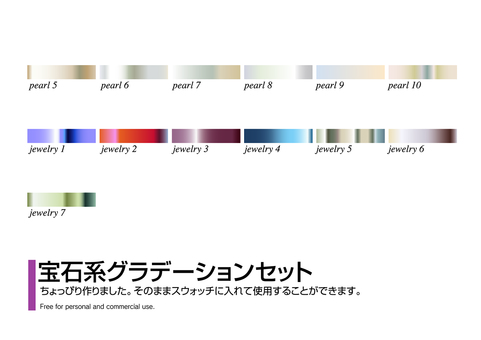 Jewelry gradation set