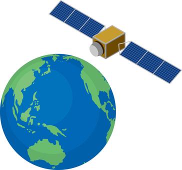 Artificial satellite GPS satellite earth