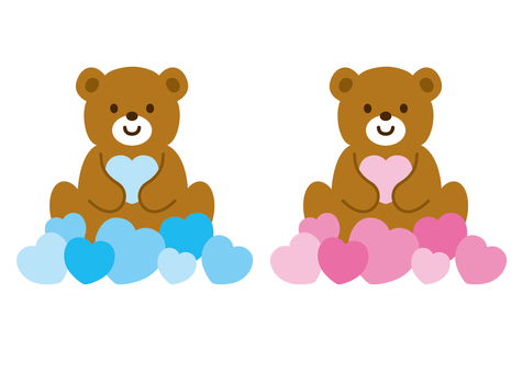 Bears and hearts <2>