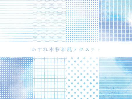 수채화 풍의 일본식 디자인 세트