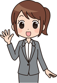 Women's anime style | OL | Suit | Greeting