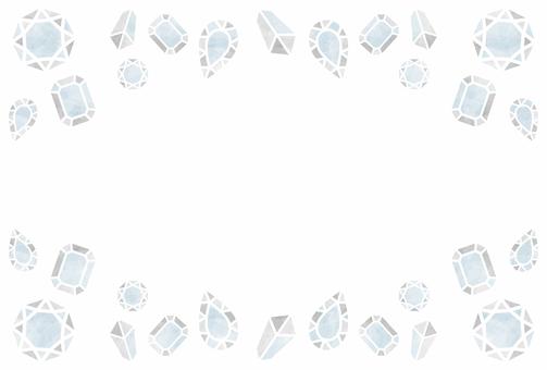 Jewelry / transparent / frame
