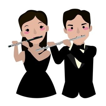 Piccolo player and flute player