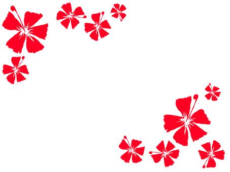 Cut silhouette frame Hibiscus