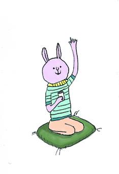 Relaxing rabbit