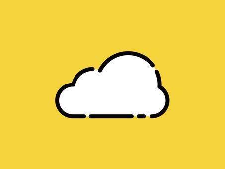 Big icon cloud clouds