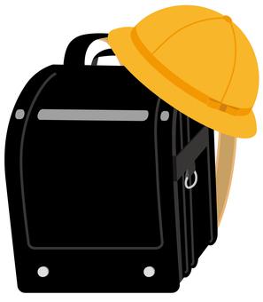 School bag with school hat (black)