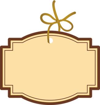 Cute ribbon tag brown