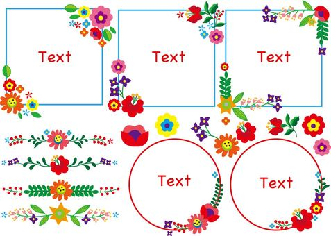 Embroidery frame Flower