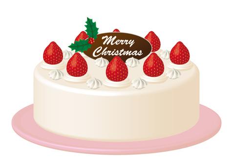 Christmas cake strawberry cake