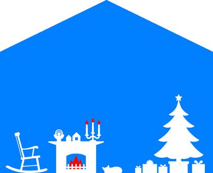 Christmas house type frame 1