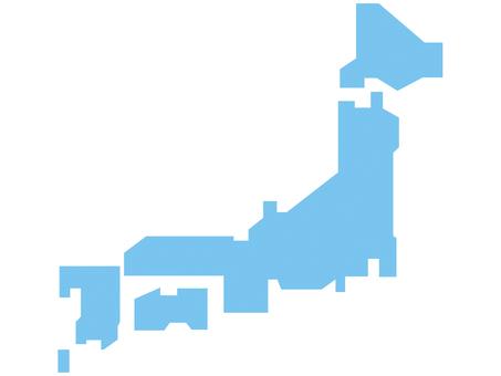Map light blue
