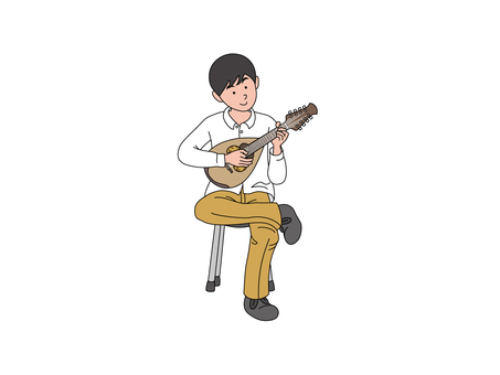 Mandolin player