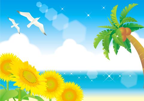 Summer sea frame 3