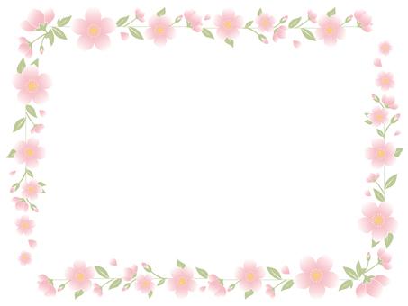 Cherry frame light pink