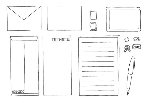 ㊵ pen stationery envelope