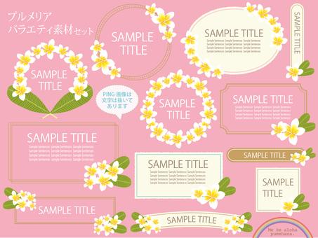 Plumeria Variety material set