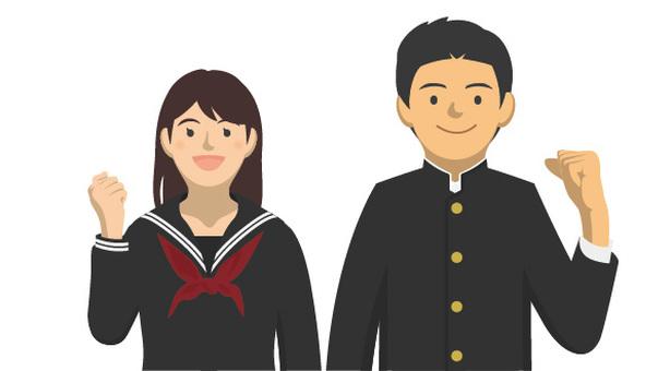 Student_uniform of men and women - 2-8_half