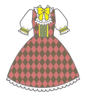 Diamond pattern jumper skirt