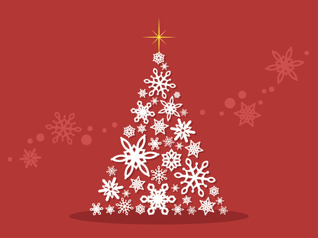 雪の結晶のクリスマスツリー