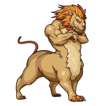 Human lion
