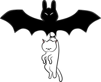 Nyanko-san was caught by a bat