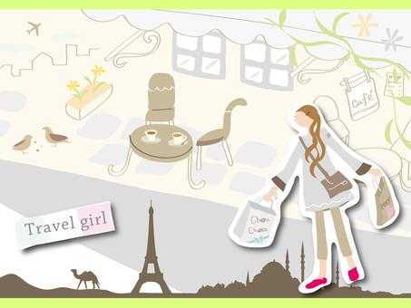 Travel girl illustration