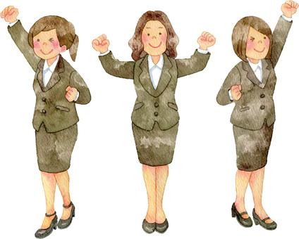 スーツの女性たち