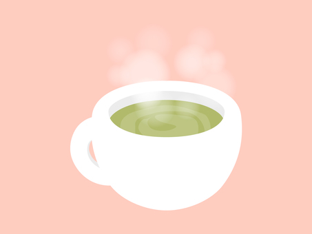 Matcha latte that entered the white cup