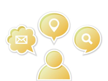 Business speech bubble icon yellow
