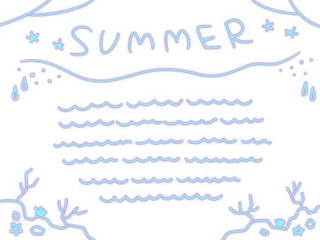 여름 편지지 바람 소재