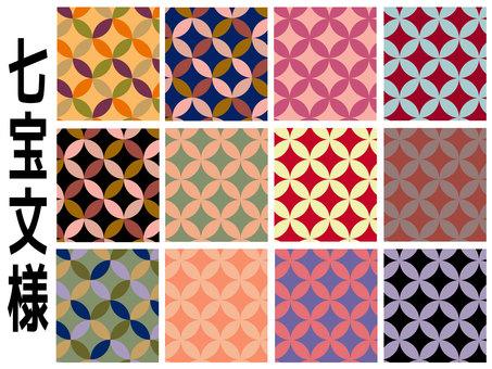 Japanese style background (Chestnut pattern)
