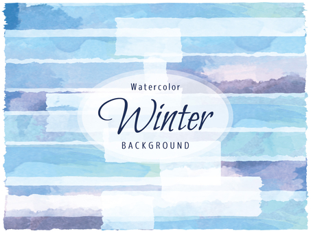 Background watercolor painting watercolor winter color blue series