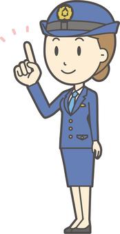 Female police officer - 214 - full body