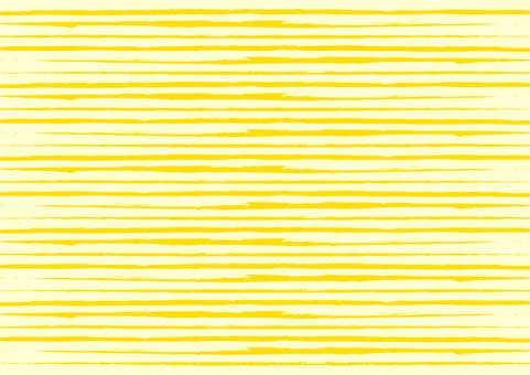 筆ボーダー背景_黄色