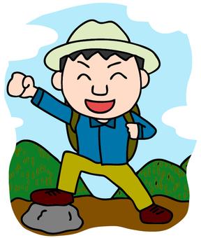 Hill climbing illustration