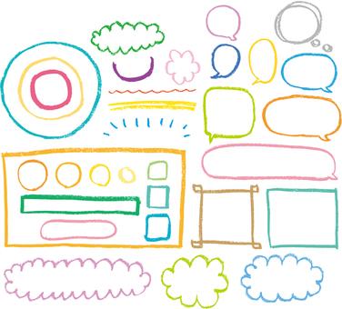 Crayon's decorative parts
