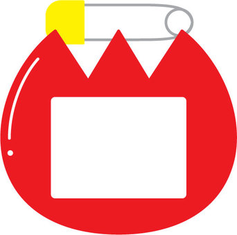 Tulip badge _ safety pin